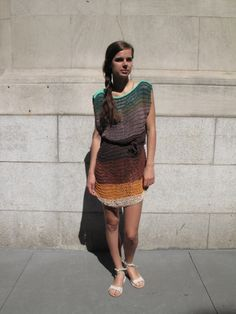 Knit dress from no. 6. @Emma Claire you could make this, I think.