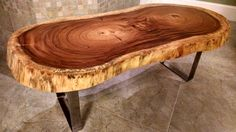 FREE SHIPPING Guanacaste Round Live Edge Wood Coffee Table by MericanRusticLLC