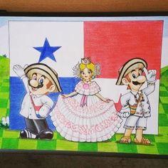 Feliz Mes de La Patria Panamá! Dibujo por Alejandro Small #panama #mesdelapatria #nintendo #gamer #fanart