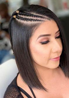 Baby Girl Hairstyles, Cool Braid Hairstyles, Afro Hairstyles, Front Hair Styles, Curly Hair Styles, Natural Hair Styles, Long Hair With Bangs, Braids For Long Hair, Shirt Hair