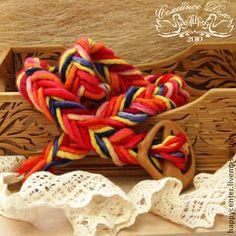 """Пояс плетеный из войлока ручной работы """"Тропикана"""". - пояс,пояс женский"""