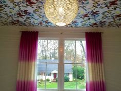 Panels for Betsy Anderson Interiors by BGCW pink ombre fabric