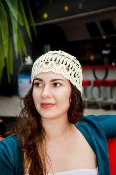 Boho Crochet Hat For Women  Light Crochet Women's by ItWasYarn