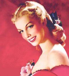 vintage illustration of beautiful woman