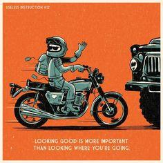 Free advice. #illustration #drawing #art #artwork #booklet #manual #motorcycles #bike #graphic #design #vintage #old #honda #caferacer