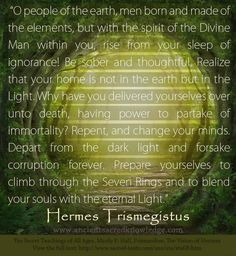 Teachings of Thoth Hermes Trismegistus www.AncientSacredKnowledge.com ..* / Weird but also reminds me of Dante's work