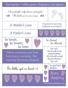 scrapbook pages for baby loss