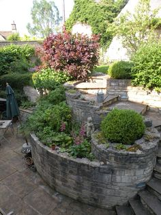 English wall garden seen here: COWBOYS & CUSTARD: A Spring in the step....