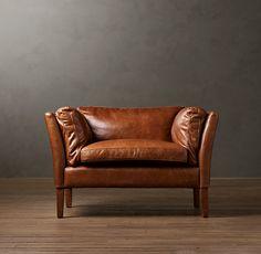 Sorensen Leather Chair. So beautiful, so expensive. Restoration hardware