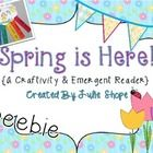 Enjoy this freebie! Included is a springtime craftivity  (template, directions and example) and emergent reader!  ...