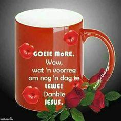 Goeie More, Good Morning Wishes, Beer, Afrikaans, Mugs, Tableware, Root Beer, Ale, Dinnerware