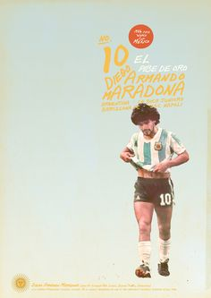 Diego Maradona - soccer, football poster - by Zoran Lucic Retro Football, Football Art, World Football, Soccer Poster, Poster Boys, Roberto Baggio, Soccer Pro, Football Players, Girls Soccer