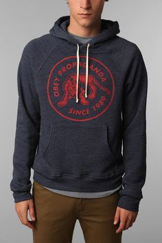 OBEY Tiger Patch Hoodie  $84.00 Online only    #apparel #clothing #hoodie #obey