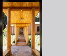 LOVE the covered walkway / breezeway. This is exactly what we need between our detached garage and house in Vermont!  Carmel Valley Home - Turnbull Griffin Haesloop Architects