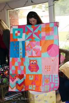 Finished baby quilt for fellow OKC Modern Quilt Guild member.