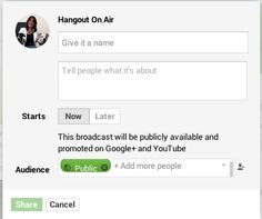 How To Create an Unlisted Hangout On Air - live video broadcasting on Googleplus!