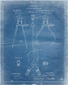Calipers Patent Print - IndustrialPrints