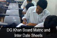 Bise DG khan Board Inter Date Sheet 2014