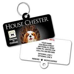 Game of Bones Custom Pet ID Tag  Black  Personalized Dog Tags For Dogs  Pet ID Tags For Cats  With Pet Photo *** Check out this great product. Personalized Dog Tags, Dog Id Tags, Pet Dogs, Bones, Personalised Dog Tags, Dogs, Dice