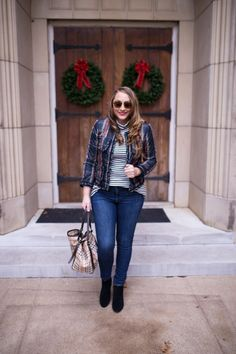 Quilted Plaid Jacket