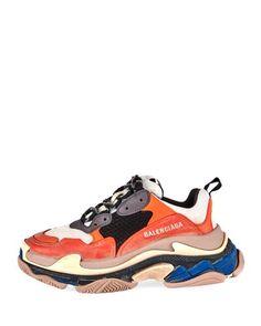 4cc135694297a7 Balenciaga Triple S Mesh   Leather Trainer Sneaker