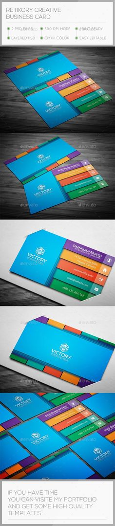 Retkory 3D Creative Business Card  #template #creative #business