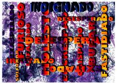 Indignado. Diseño de Carlos Santana.