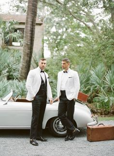 Organic Black Tie Same Sex Wedding Editorial for The Knot - KT Merry Photography