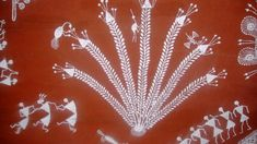 A Complete Warli painting Tutorial Guide - The Crafty Angels Worli Painting, Fabric Painting, Painting Techniques, Painting Tutorials, Crafty Angels, Paint Cards, Christmas Tree Cards, Wall Paint Colors, Earring Tutorial