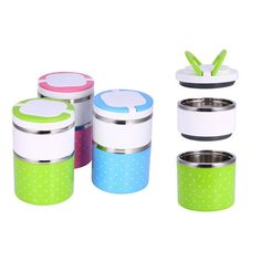 High Quality Cartoon Lunch Box Food Container Stainless Steel Lunch Box Insulation Bento Thermo Thermal Lunch. Click visit to buy #dinnerware