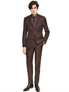 Canali Brown Wool/Mohair Blend Suit for men Mens Fashion Suits, Mens Suits, Men's Fashion, Expensive Suits, Luxury Shop, Mother Of Pearl Buttons, Gentleman Style, Modern Man, Nice Dresses