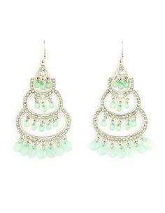 I love these! Mint green candy bead chandelier earrings from Charlotte Russe