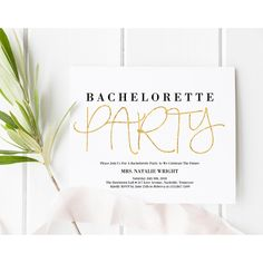 Bachelorette Party Invitation, Bachelorette Party Printable, Black and... ($15) ❤ liked on Polyvore featuring home, home decor and stationery