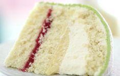 Using princess cake as inspiration, cake to be sponge with layers of: Strawberry jam (FMIL can't have raspberry) Pastry cream Whipped cream White fondant on top instead of marizpan + powdered sugar (b/c not everyone likes almond) Princess Torte, Princess Cake Swedish, Fatless Sponge, Gourmet Recipes, Cake Recipes, Baking Recipes, Marzipan Cake, Ricotta Cake, Raspberry Cake