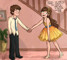 Awww dipper is so cute! I actually believe Dipper would do that for his sis. cute sibling moment.