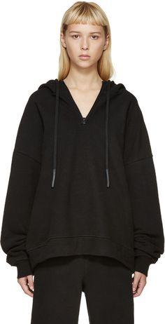 YEEZY Season 1 Black Half Zip Hoodie ✈️✈️✈ @kimludcom Black Zip Hoodie, Black Hooded Sweatshirt, Black Yeezys, Yeezy Season 1, Yeezy Fashion, Hoodies, Sweatshirts, Mens Tees, How To Wear