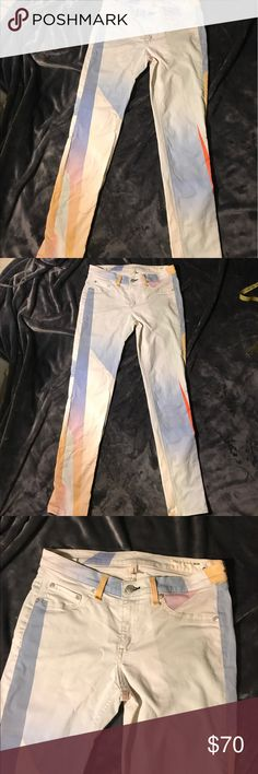 Rag and Bone leggings NWOT NWOT gorgeous leggings jeans great for summer. Size 28. Stretchy. No tags they haven't been worn. Need a wash has a couple dust stains rag & bone Jeans Ankle & Cropped