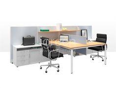 Cluster of 2 Leg Base Workspace open plan workstation | Products | igreen office furniture