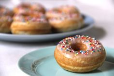 Baked Glazed Donuts. -uses only 1 cup flour !!!-