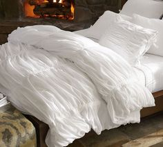 Gojee - Hadley Ruched Duvet Cover by Pottery Barn