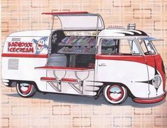 VW barndoor icecream van