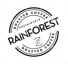 Sustainable Rainforest Roasted Coffee round labels on coffee bean on white background royalty-free sustainable rainforest roasted coffee round labels on coffee bean on white background stock vector art & more images of canada
