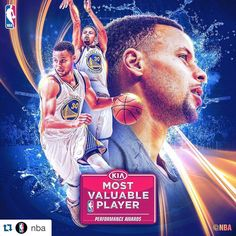 Steph Curry becomes the first NBA player to win the award unanimously! Basketball Posters, Basketball Teams, Sports Teams, Sports Logo, Stephen Curry Poster, Wardell Stephen Curry, 2018 Nba Champions, Warrior Names, Strong Faith