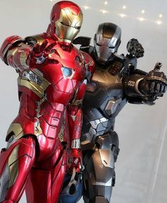 Iron Man and War Machine. All Marvel Heroes, Marvel Dc Comics, Marvel Characters, Marvel Avengers, Wallpaper Animé, Iron Man Cosplay, Hot Toys Iron Man, Iron Man Art, Black Panther Art