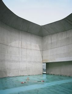 Termas de Tiberio by Moneo Brock Studio  Similar to Peter Zumthor's Therme Vals, this project aims to modernise the thermal bath experience but with a brighter and more playful approach.