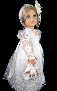 "Regency Gown Jane Austen Fits American Girl 18"" Doll Littlecharmersdolldesn 