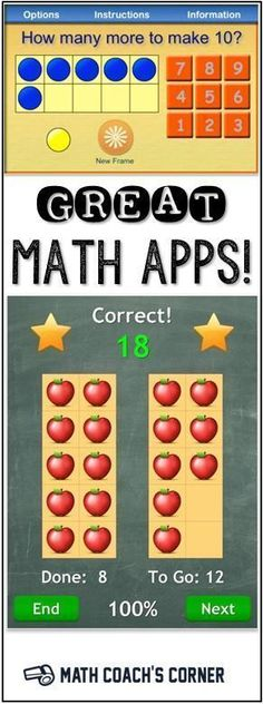 Plethora of FREE iPad Math Apps! Free and low-cost math apps! Perfect for primary teachers-great list to use in your classroom!Free and low-cost math apps! Perfect for primary teachers-great list to use in your classroom! Math Resources, Math Activities, Math Tips, Kindergarten Math Games, Preschool, Ipad Apps, Math Coach, Math Intervention, Math Stations