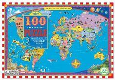 This World Map Puzzle makes learning geography fun! Ages 5+ #eeboo #OrangeCounty #NewportBeach #OnlineBabyBoutique #birthdaypresent #children #girls #boys #kids