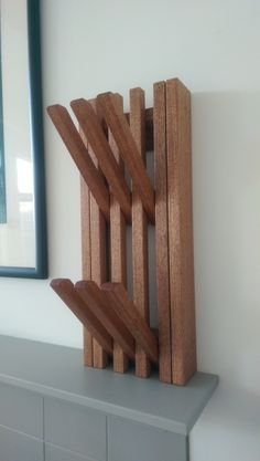 Wooden coat hook