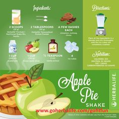 Is it a slice of apple pie or an #HerbalifeShake? It's so delicious that it's hard to tell the difference! #LoveMyShake #LoveApplePie